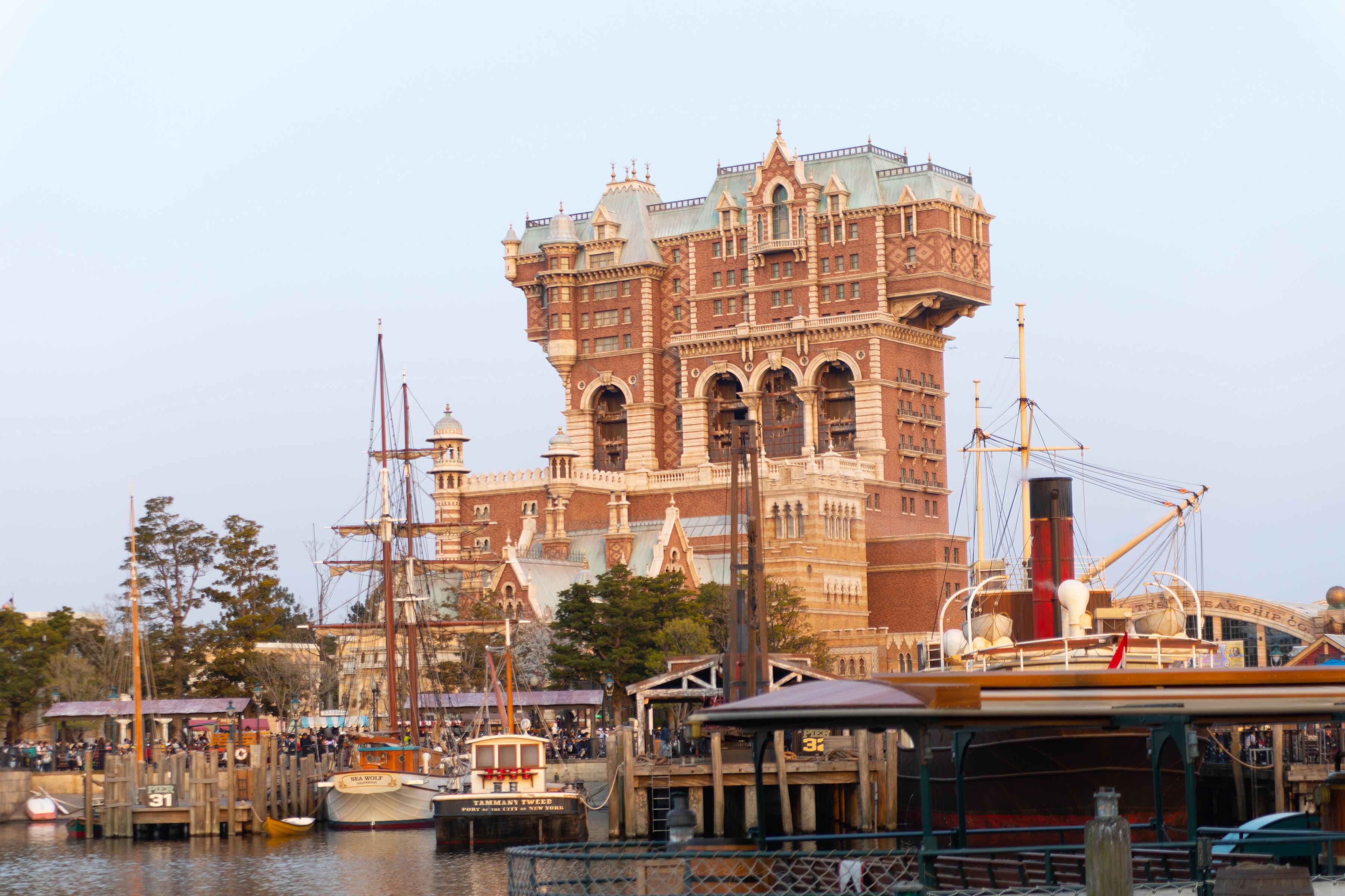 Tower of Terror American Waterfront at Tokyo DisneySea in Tokyo, Japan