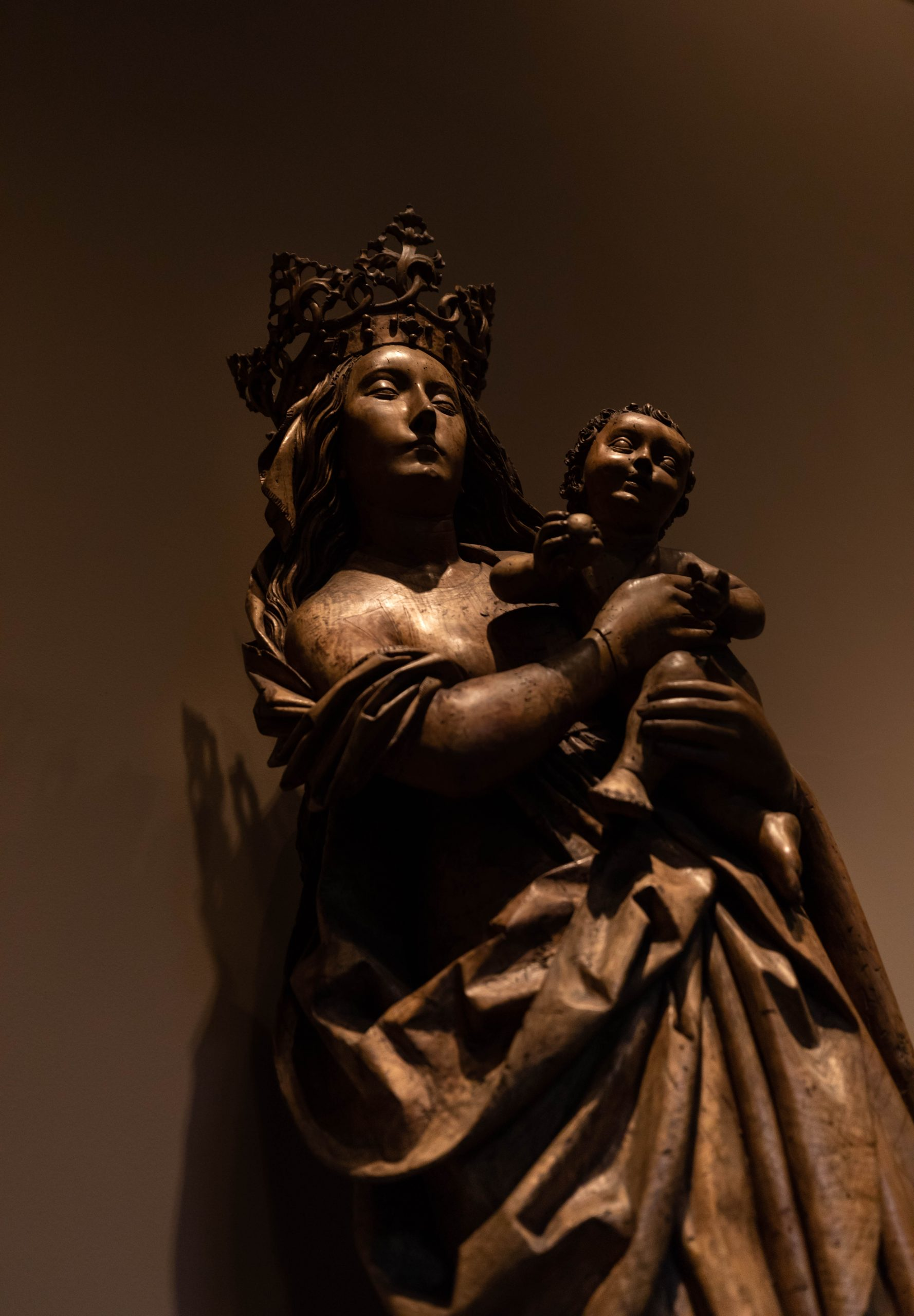 Madonna and Child Statue at Detroit Institute of Arts in Detroit Michigan Photographed by Annie Fairfax