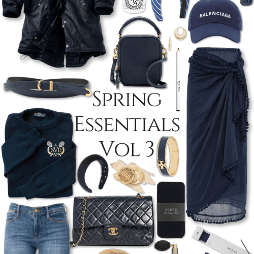Spring Essentials Volume 2 What to Wear Spring Trends Fashion Clean Beauty Spring Makeover Navy Outfits Gingham, Chanel, Barbour, KJP, J. Crew, Prada and More by Annie Fairfax