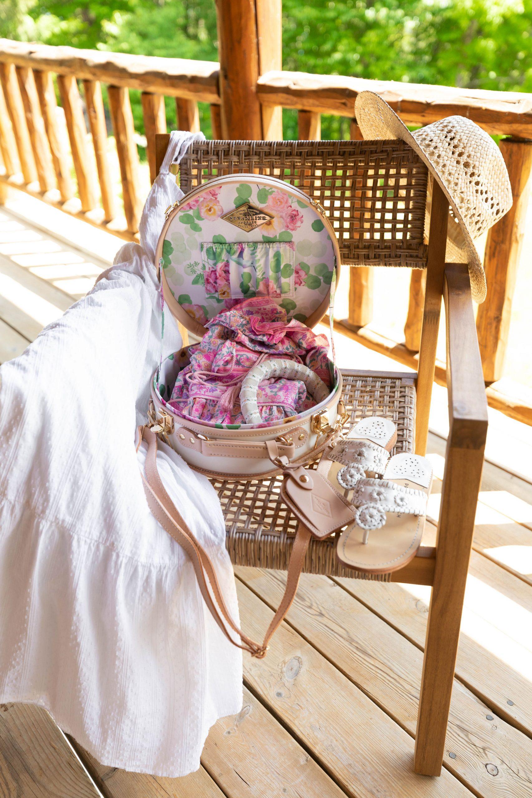 Steamline Luggage Hat Box Overnight Travel Case Suitcase Annie Fairfax AnnieWearsIt