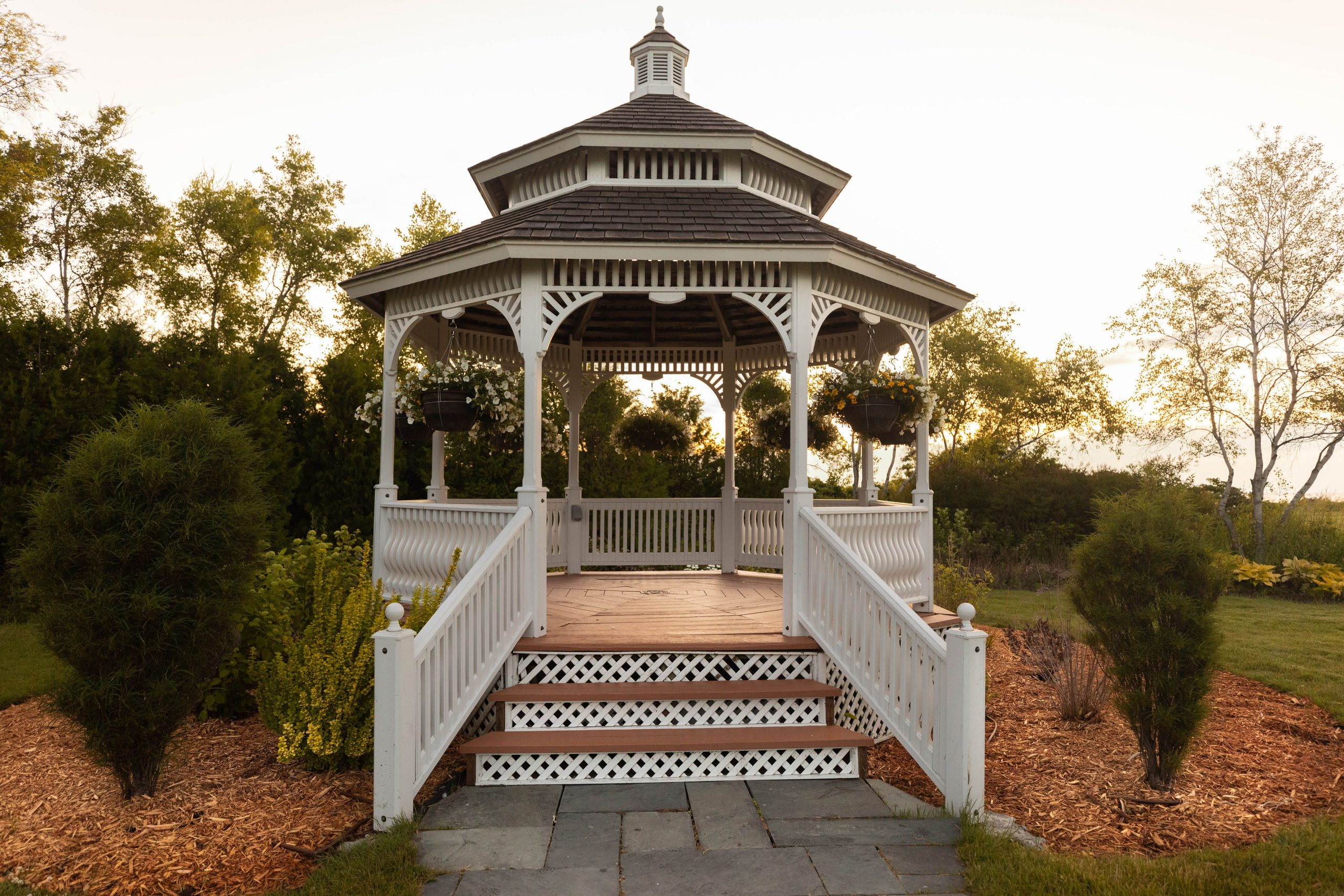 Gazebo at Mission Point Resort on Mackinac Island Michigan by Annie Fairfax @AnnieFairfax
