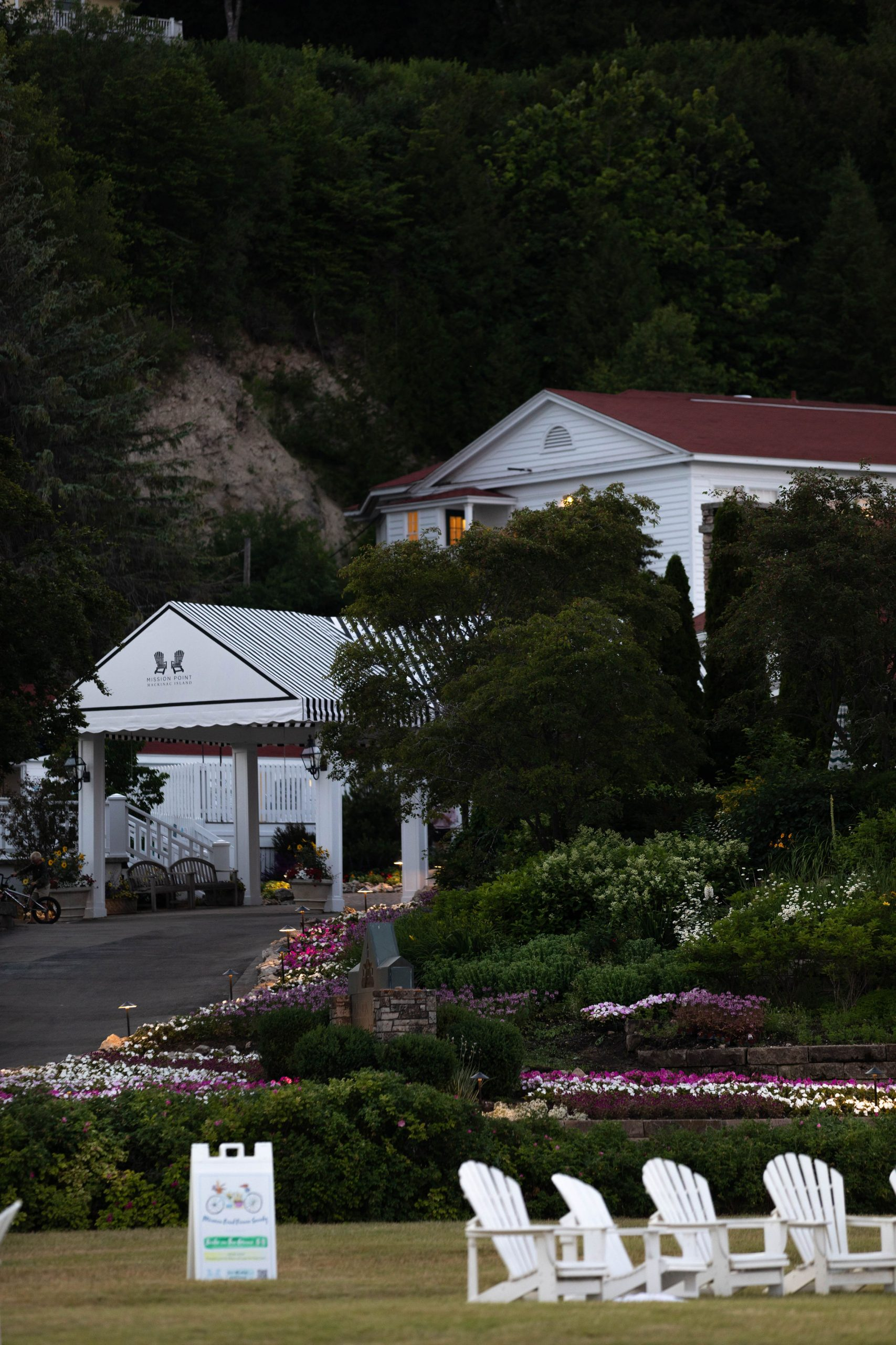 Mission Point Resort on Mackinac Island Front Entrance by Annie Fairfax