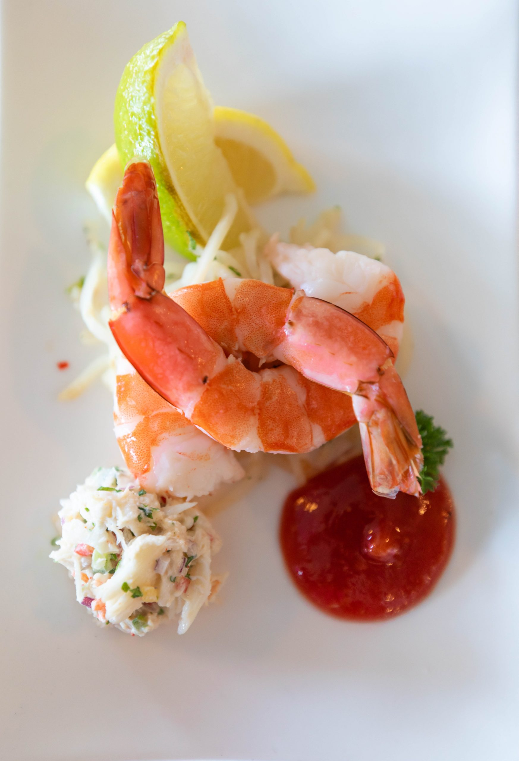 Chilled Jumbo Shrimp at Grand Hotel on Mackinac Island Michigan Fine Dining Options Photographed and Written by Annie Fairfax
