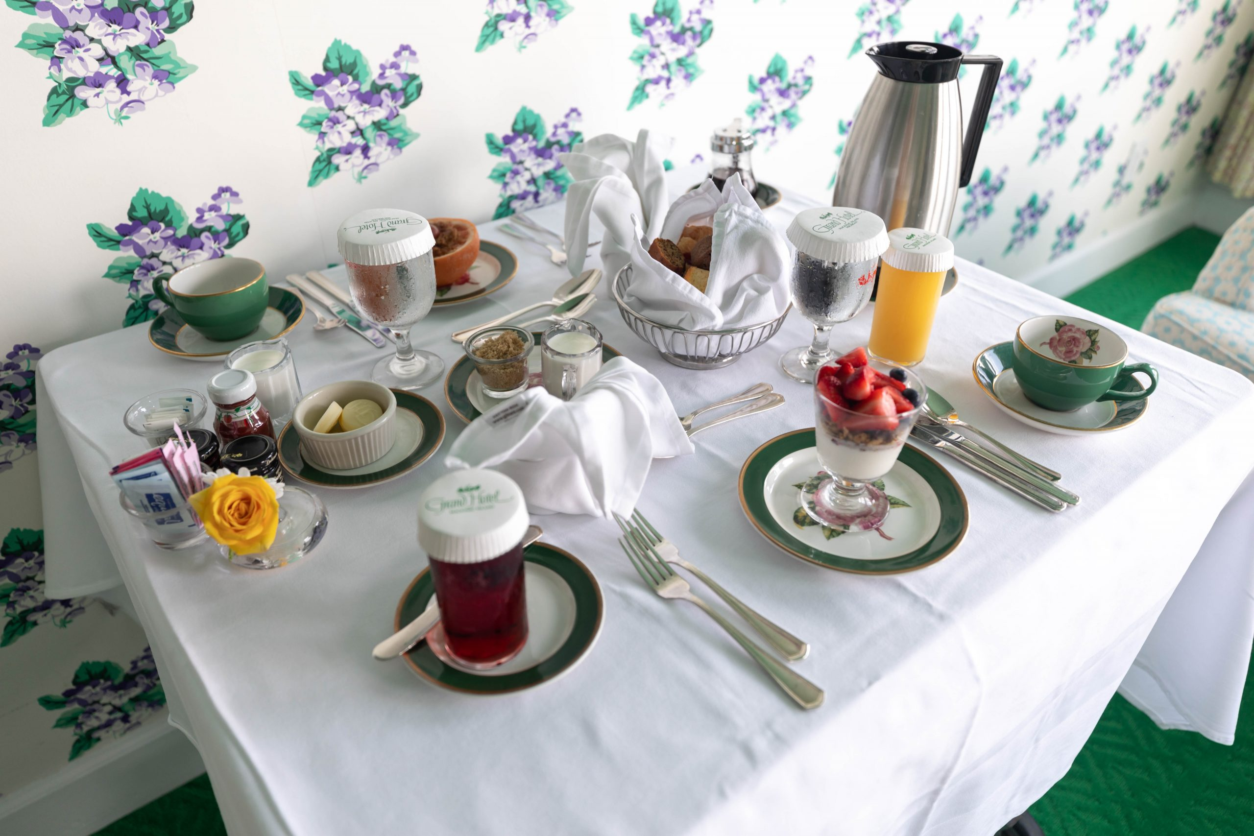 Breakfast in Bed at Grand Hotel on Mackinac Island by Annie Fairfax