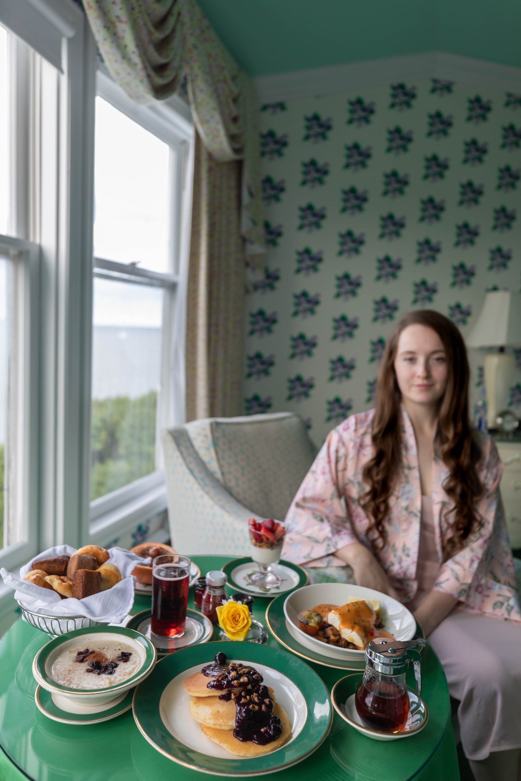 In Room Dining Breakfast in Bed at Grand Hotel Mackinac Island by Annie Fairfax