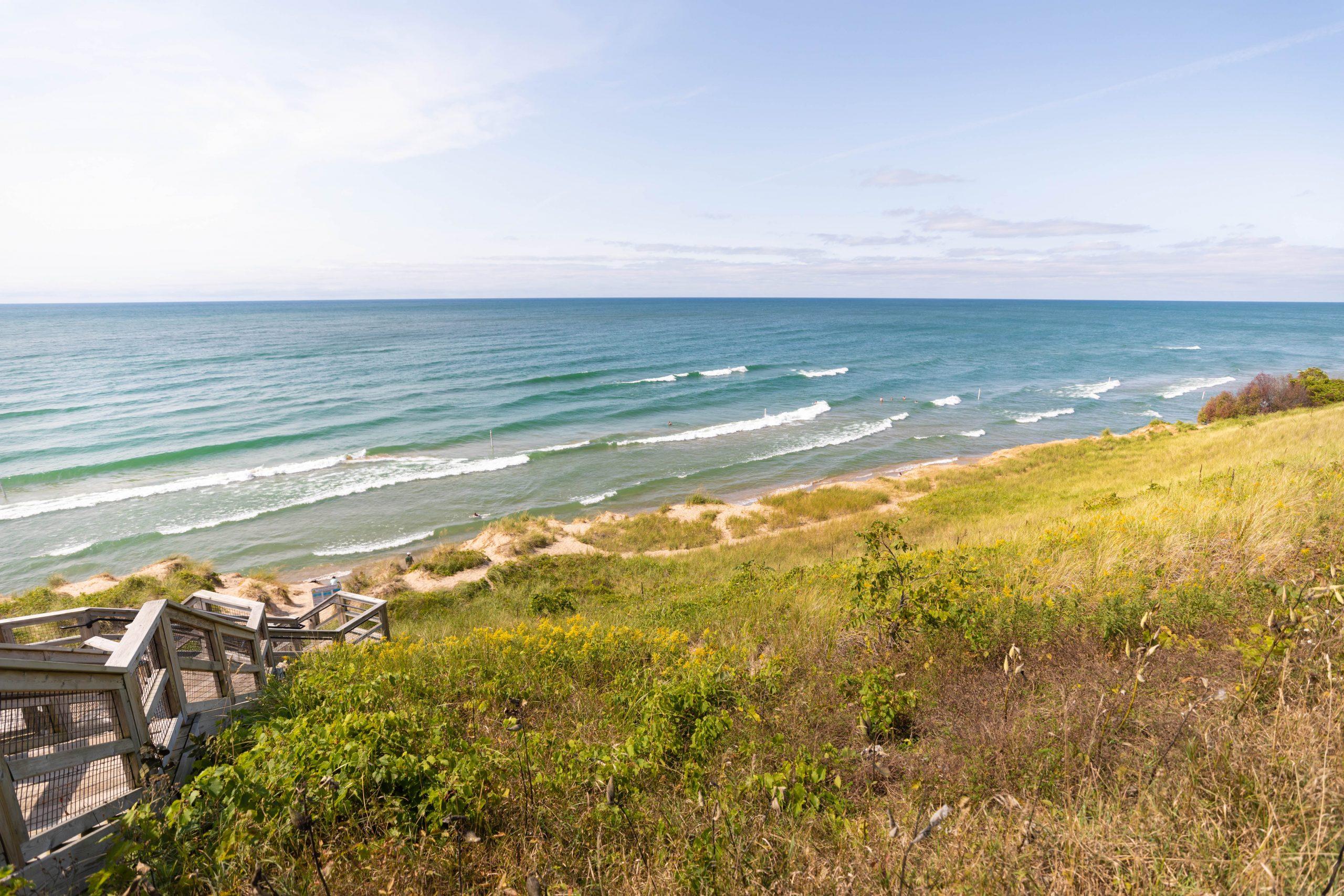 Tunnel Park Beach in Holland Michigan Lake Michigan by Annie Fairfax