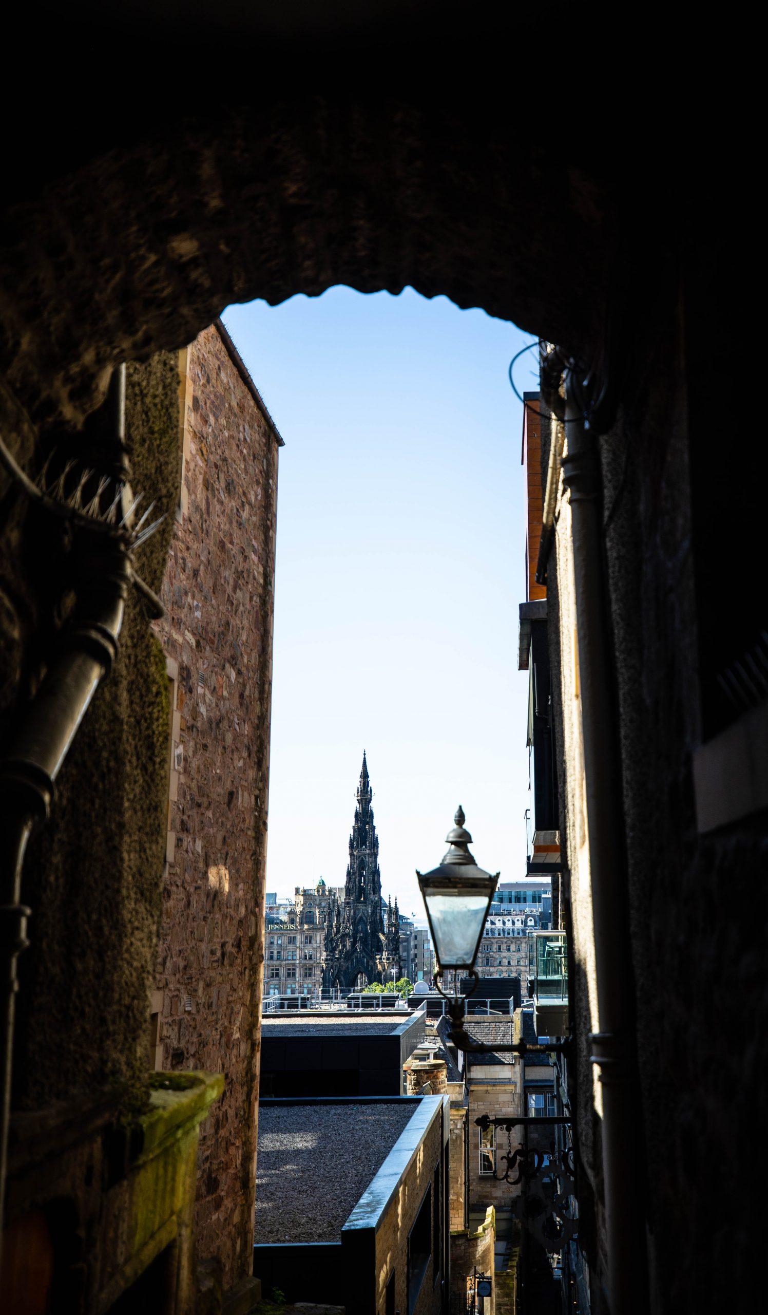 Craig's Close in Edinburgh, Scotland Old Town Luxury Travel Guide by Annie Fairfax incredible European Architecture