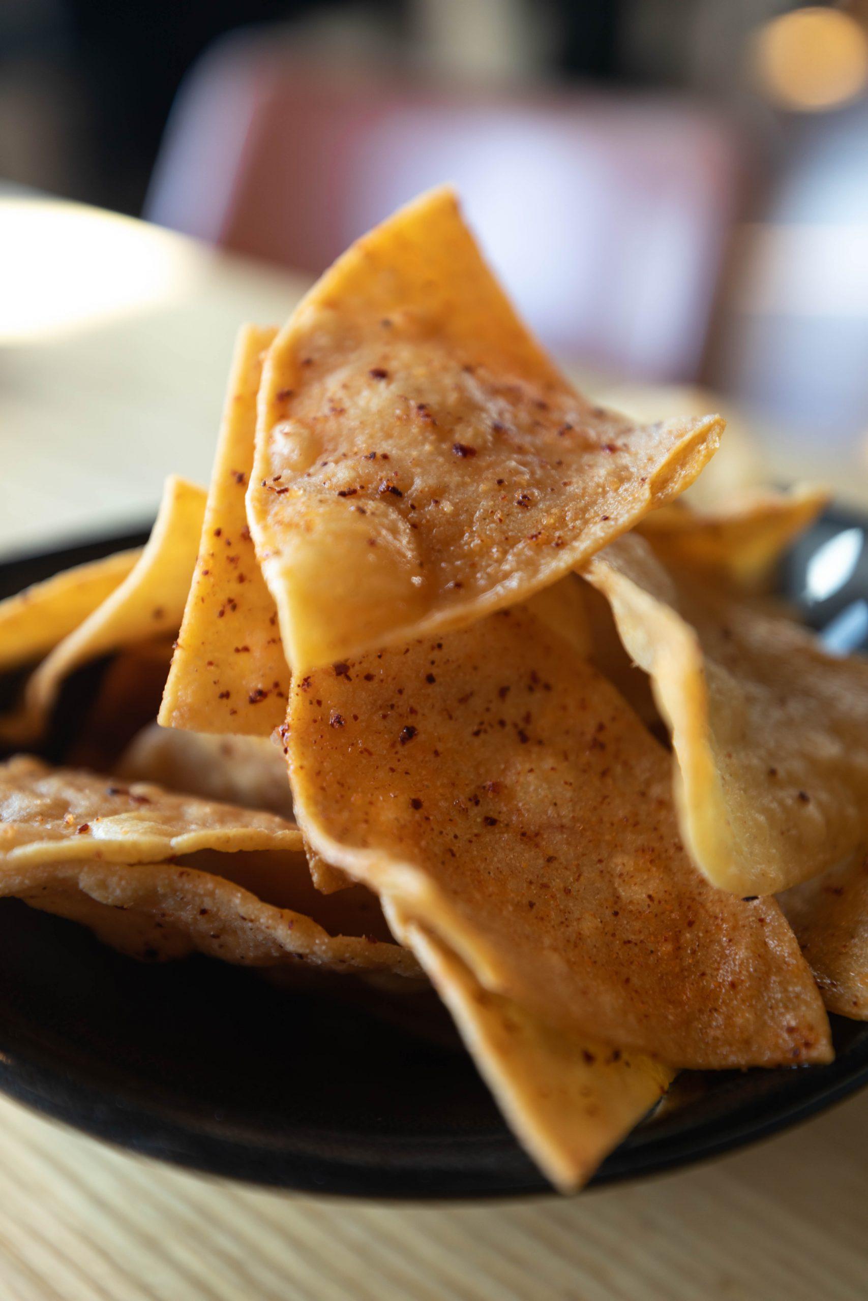 Freshly Made Seasoned Corn Chips from Sawyer Restaurant Seattle by Annie Fairfax