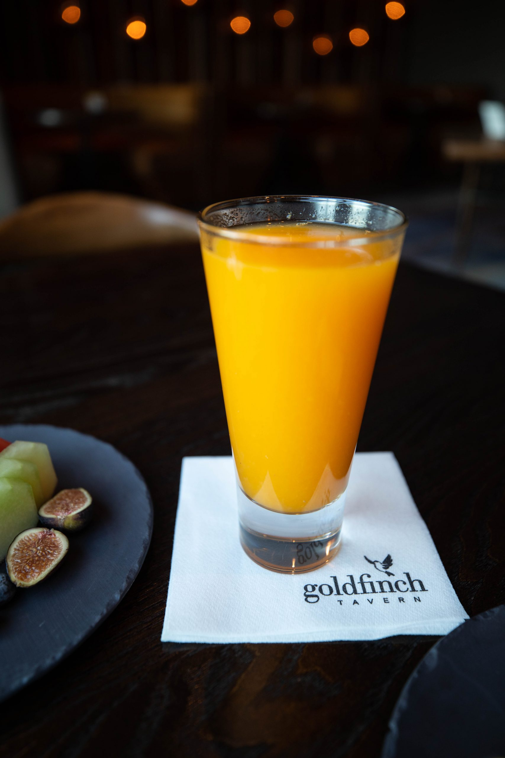 Goldfinch Tavern Freshly Squeezed Orange Juice Four Seasons Hotel Seattle Washington by Annie Fairfax