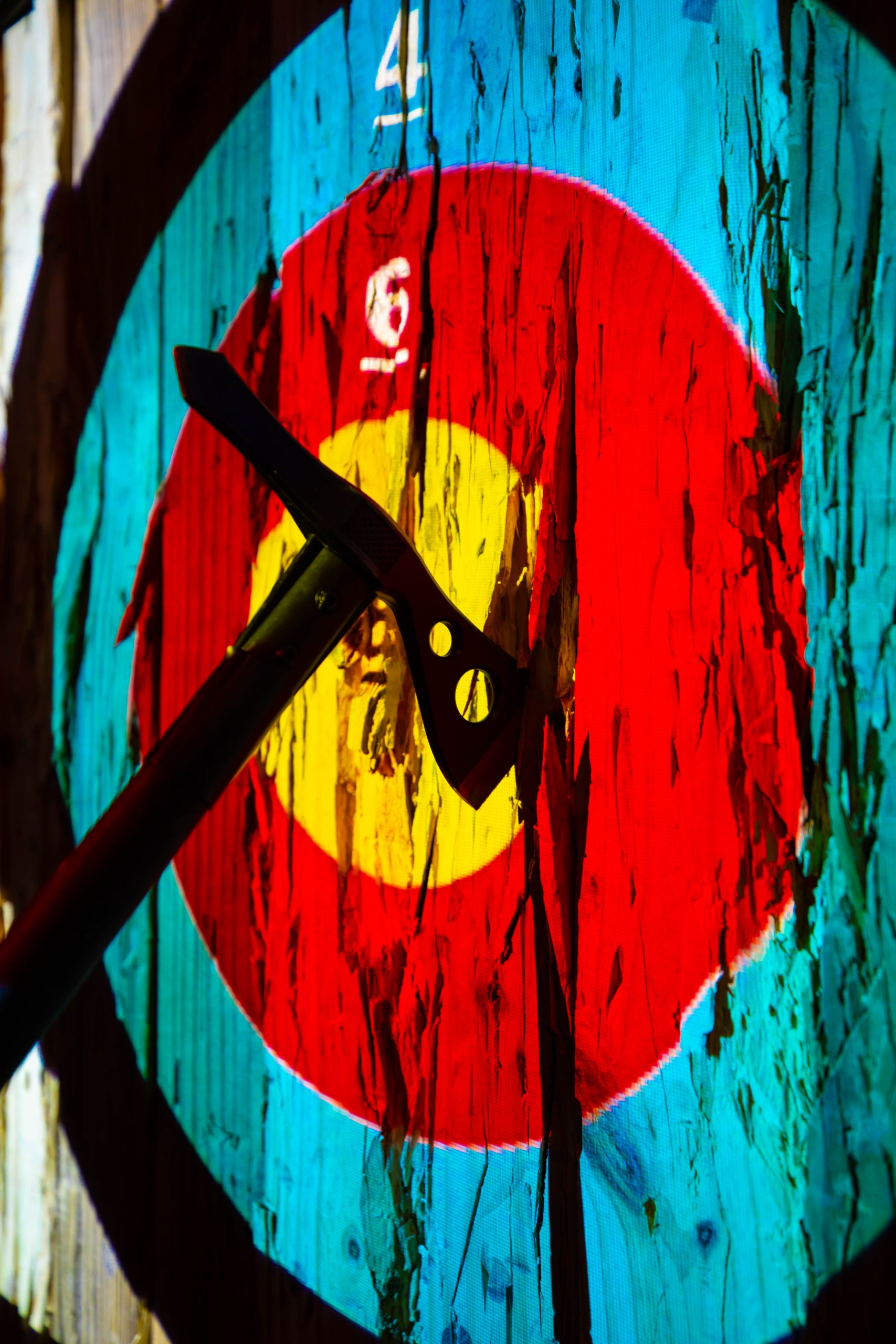 Axe Throwing at The Den Inside Grand Traverse Resort in Acme Traverse City Michigan Photographed by Annie Fairfax