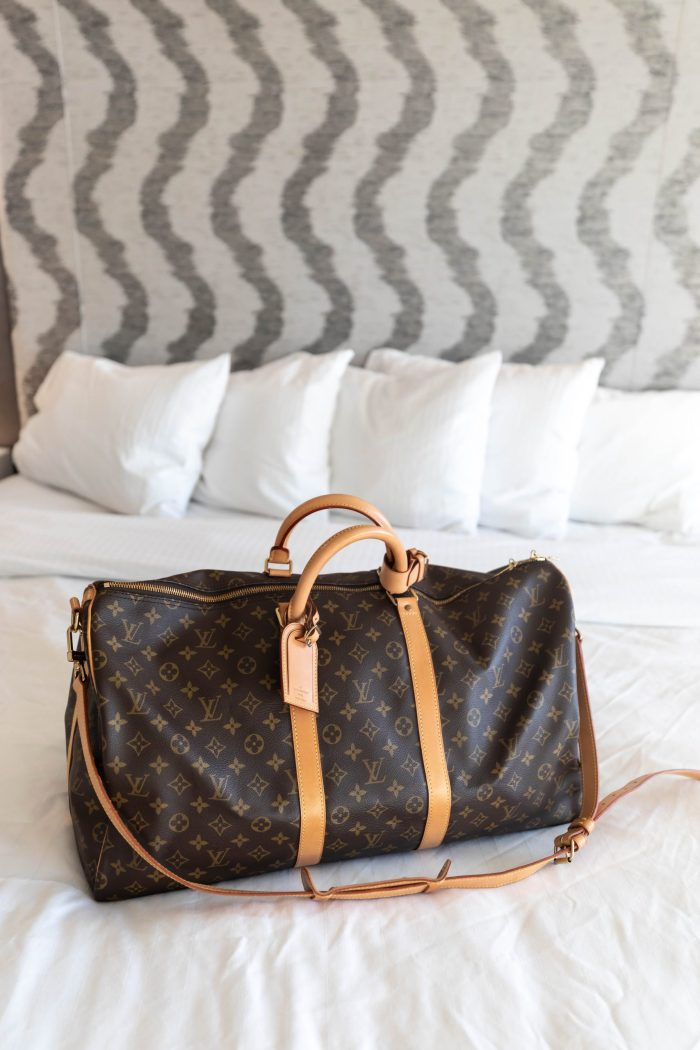 Louis Vuitton Duffle Bandoulière 55 Bag Resort Rooms Grand Traverse Resort & Spa in Acme Traverse City Michigan Photographed by Annie Fairfax