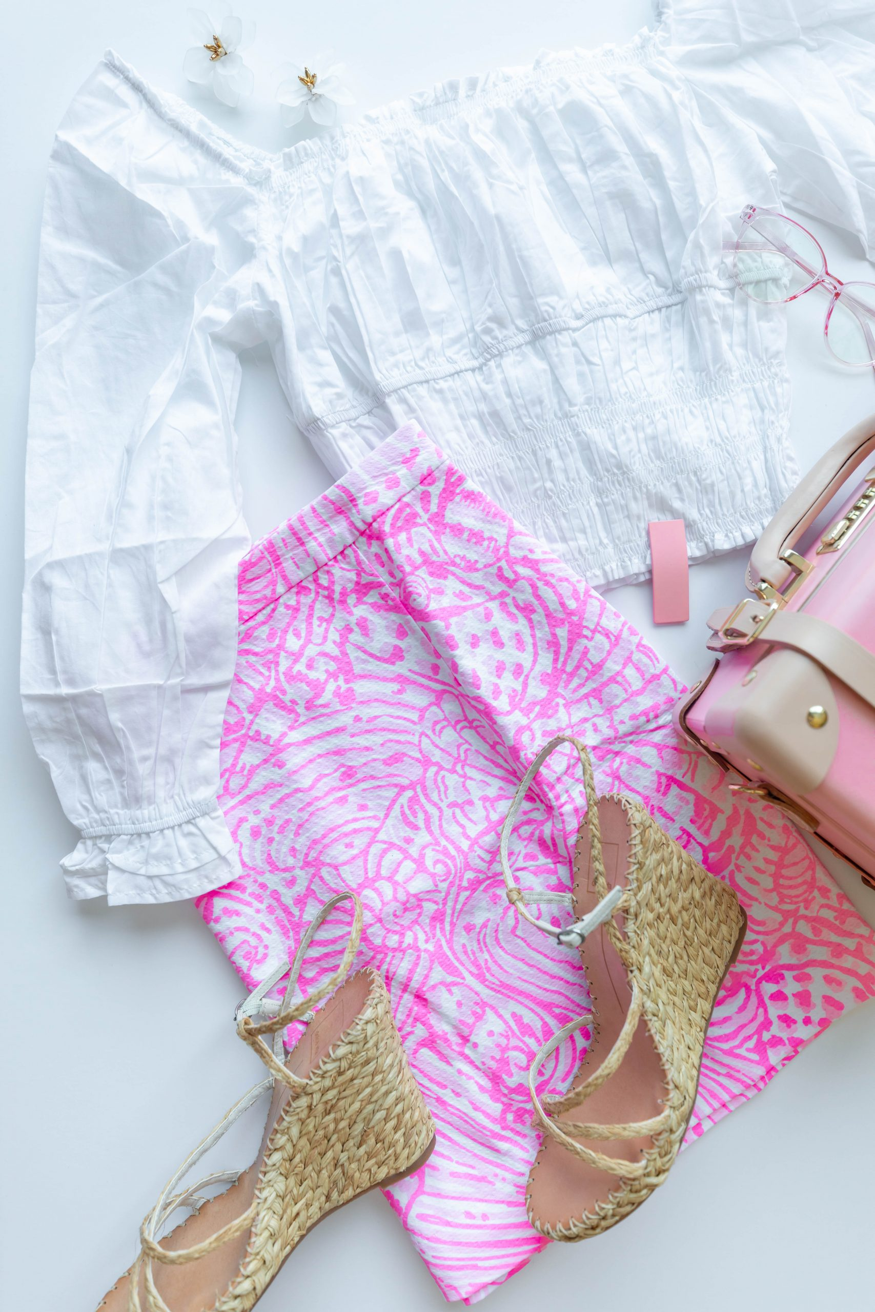 Adeline Skirt in Pelican Pink Sea Cups What I Bought in the Lilly Pulitzer After Party Sale