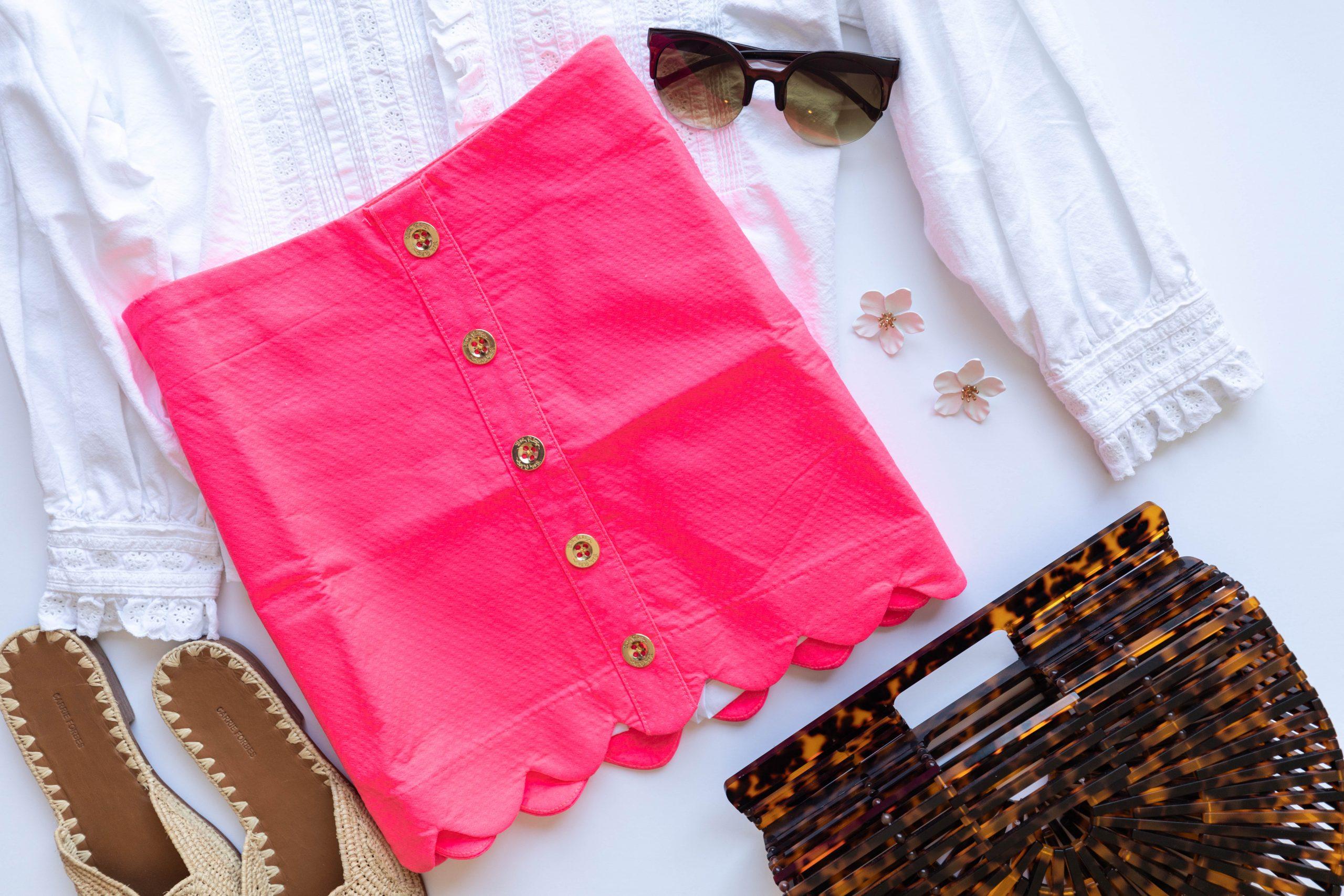 Lilly Pulitzer Kaylie Button Down Skort in Love Potion Pink