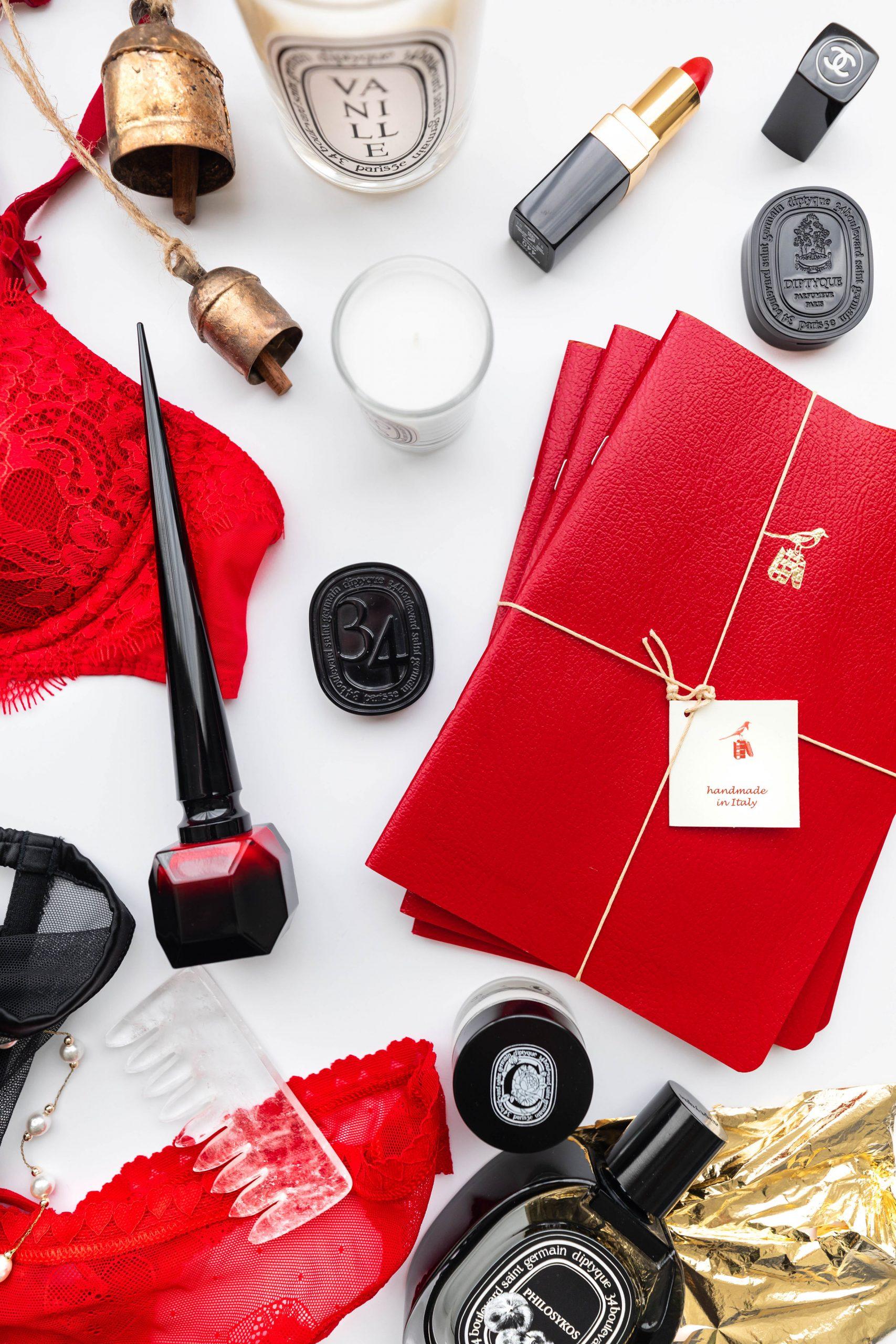 Happy Valentine's Day! Valentine's Day Romantic Lingerie Agent Provacteur La Perla and Victoria's Secret Diptyqie Chrisitan Louboutin