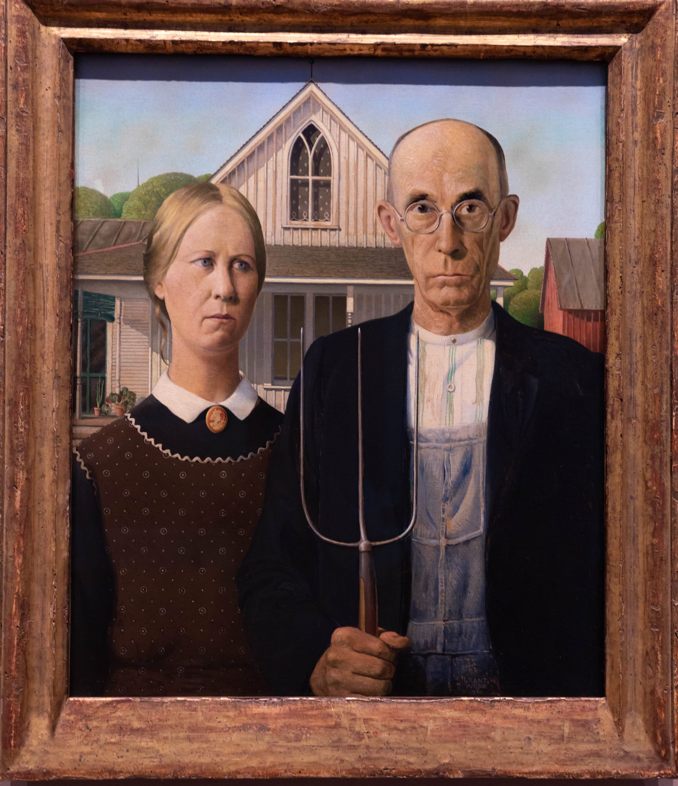 American Gothic The Art Institute of Chicago in Chicago, Illinois by Annie Fairfax