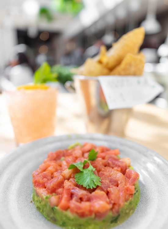 Tuna and Watermelon Tartare Summer House Santa Monica Vegan Friendly Gluten Free Restaurant in Chicago, Illinois Gold Coast by Annie Fairfax