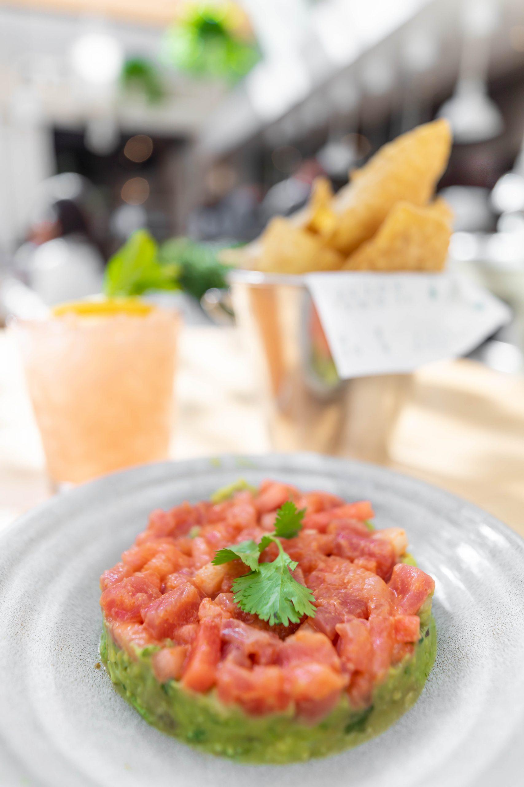 Tuna and Watermelon Tartare Summer House Santa Monica Vegan Friendly Gluten Free Restaurant in Chicago, Illinois Gold Coast by Annie Fairfax