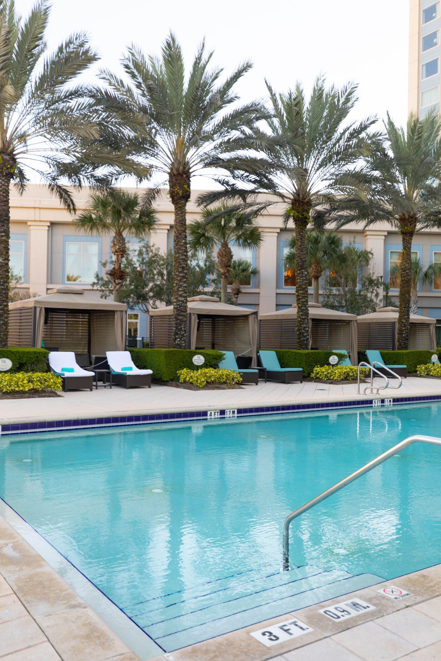 Aquamarine Restaurant Waldorf Astoria Orlando Poolside Restaurant in Orlando Florida