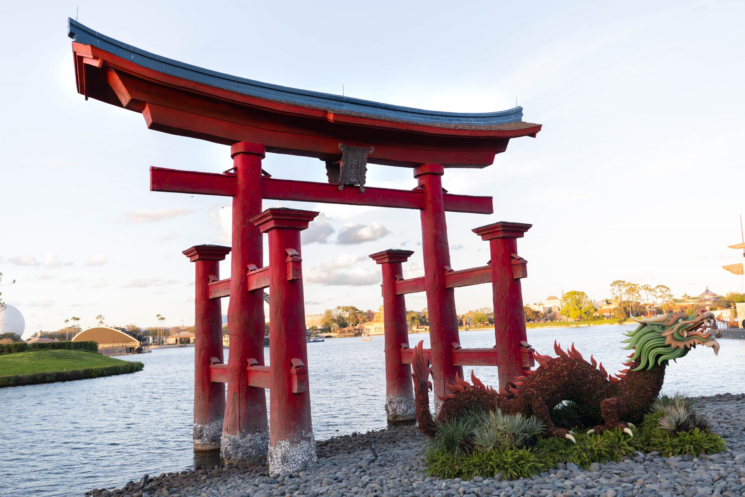 Red Torii Gate Japan Epcot Walt Disney World by Luxury Travel Writer and Photographer Annie Fairfax
