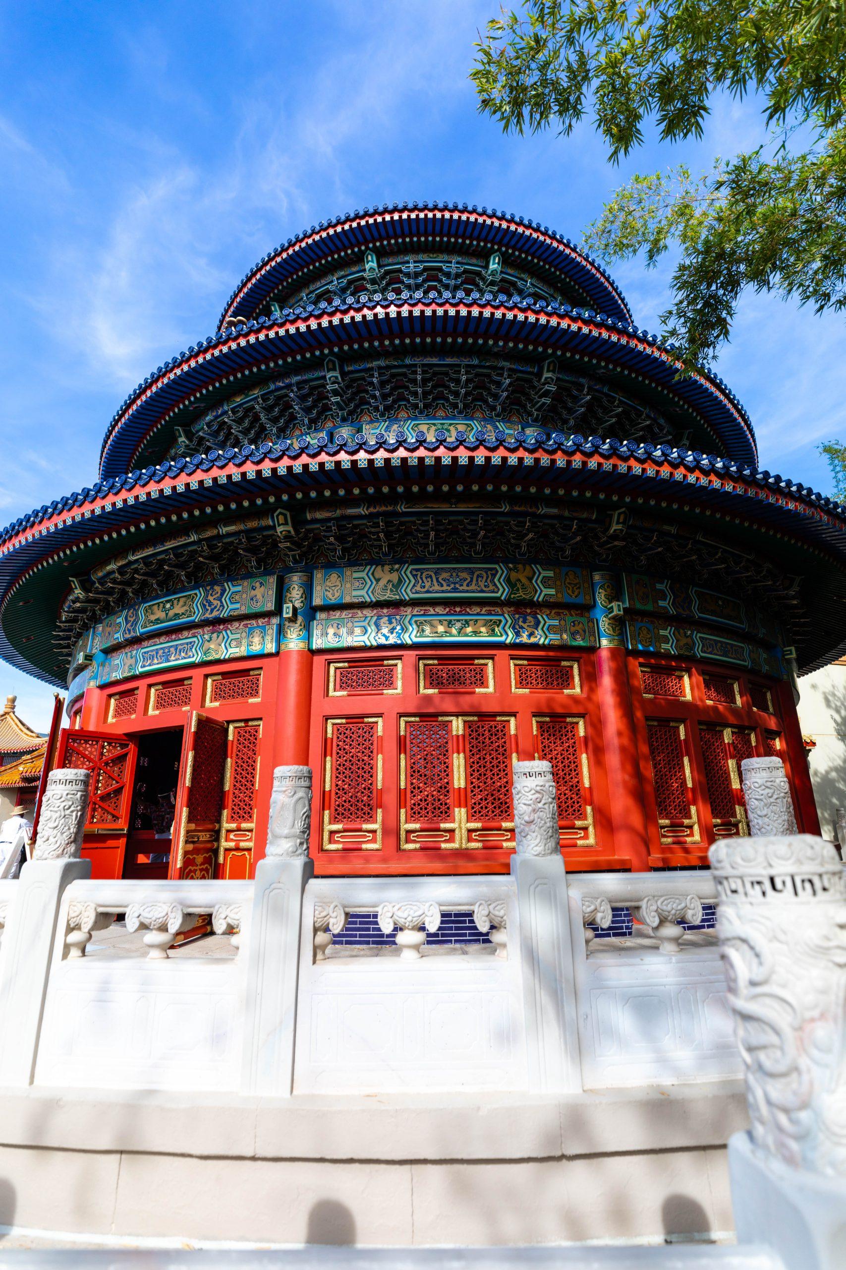 China at Epcot World Showcase Epcot International Flower & Garden Festival by Annie Fairfax