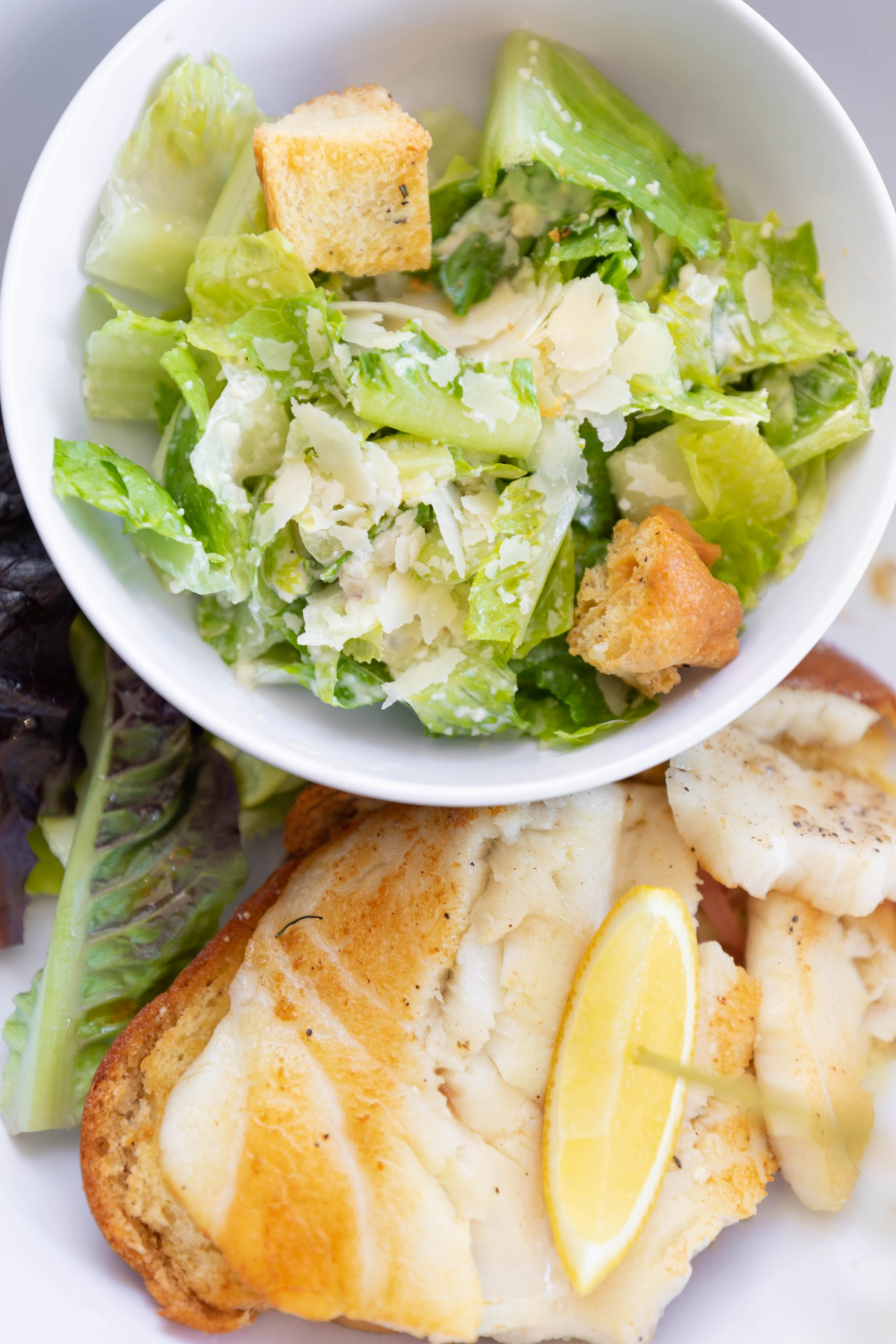 Florida Grouper Sandwich Aquamarine Restaurant Waldorf Astoria Orlando Poolside Restaurant in Orlando Florida by Annie Fairfax