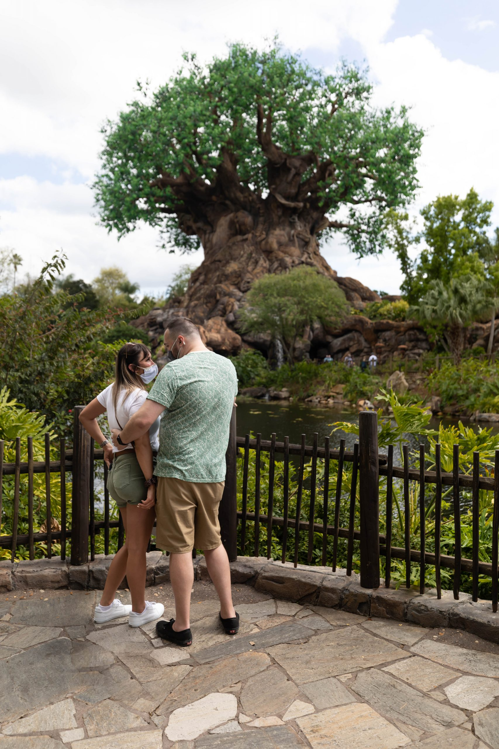 Jamie & Shane's Walt Disney World Animal Kingdom Tree of Life Engagement Photoshoot by Annie Fairfax