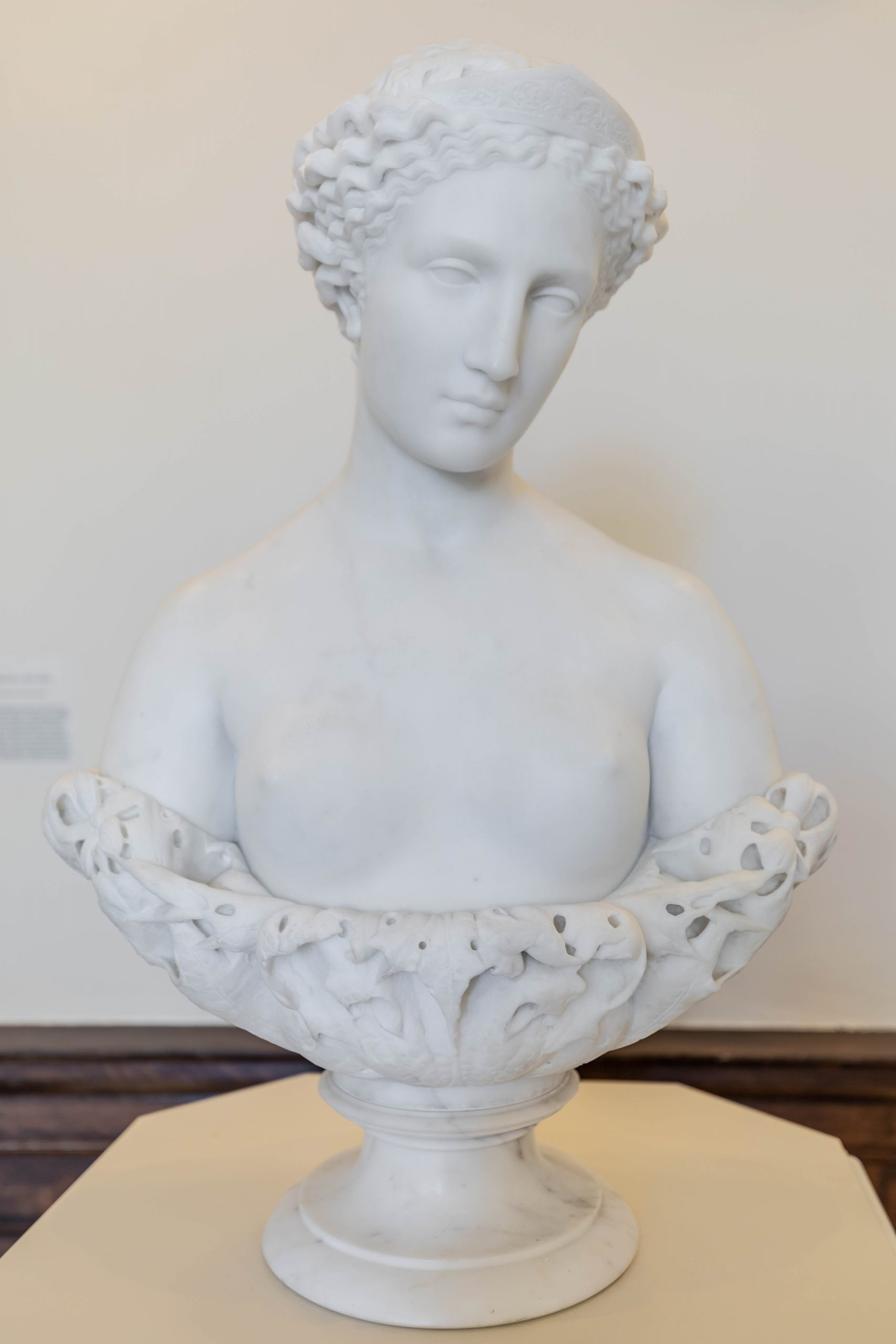 Marble Statue at The Gibbes Museum of Art in Charleston South Carolina Photographed by Annie Fairfax