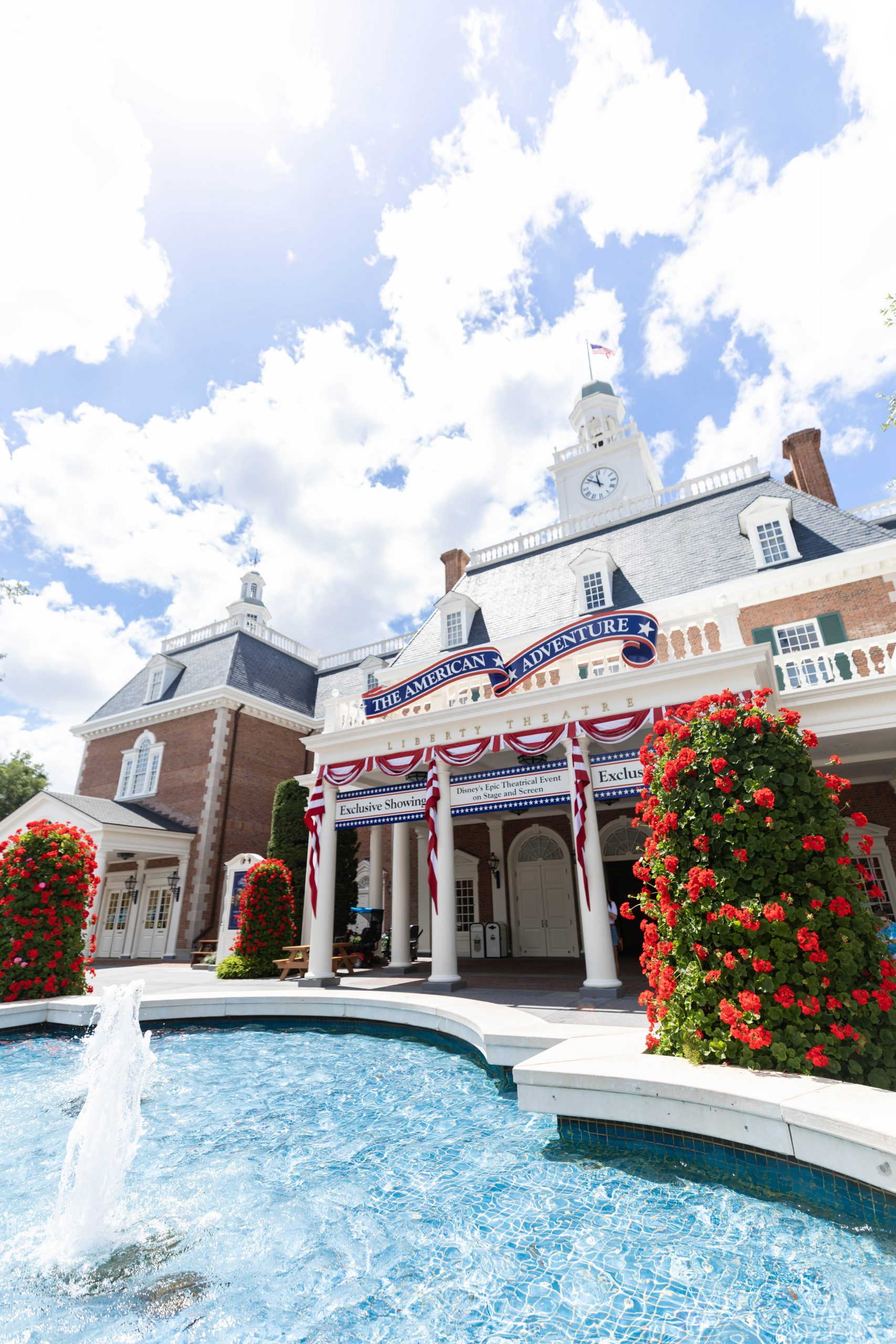 The United States of America American Adventure Pavillion at Epcot Walt Disney World Photographed by Annie Fairfax