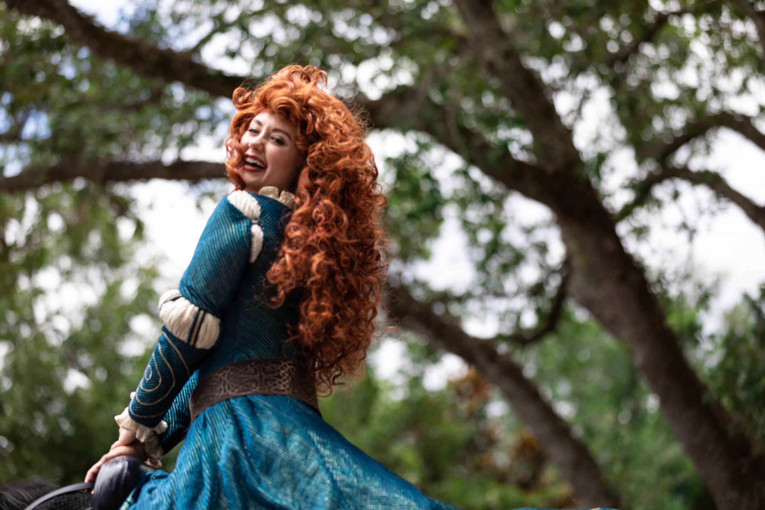 Photograph of Disney Princess Merida at Walt Disney World Photographed by Luxury Travel Writer Annie Fairfax