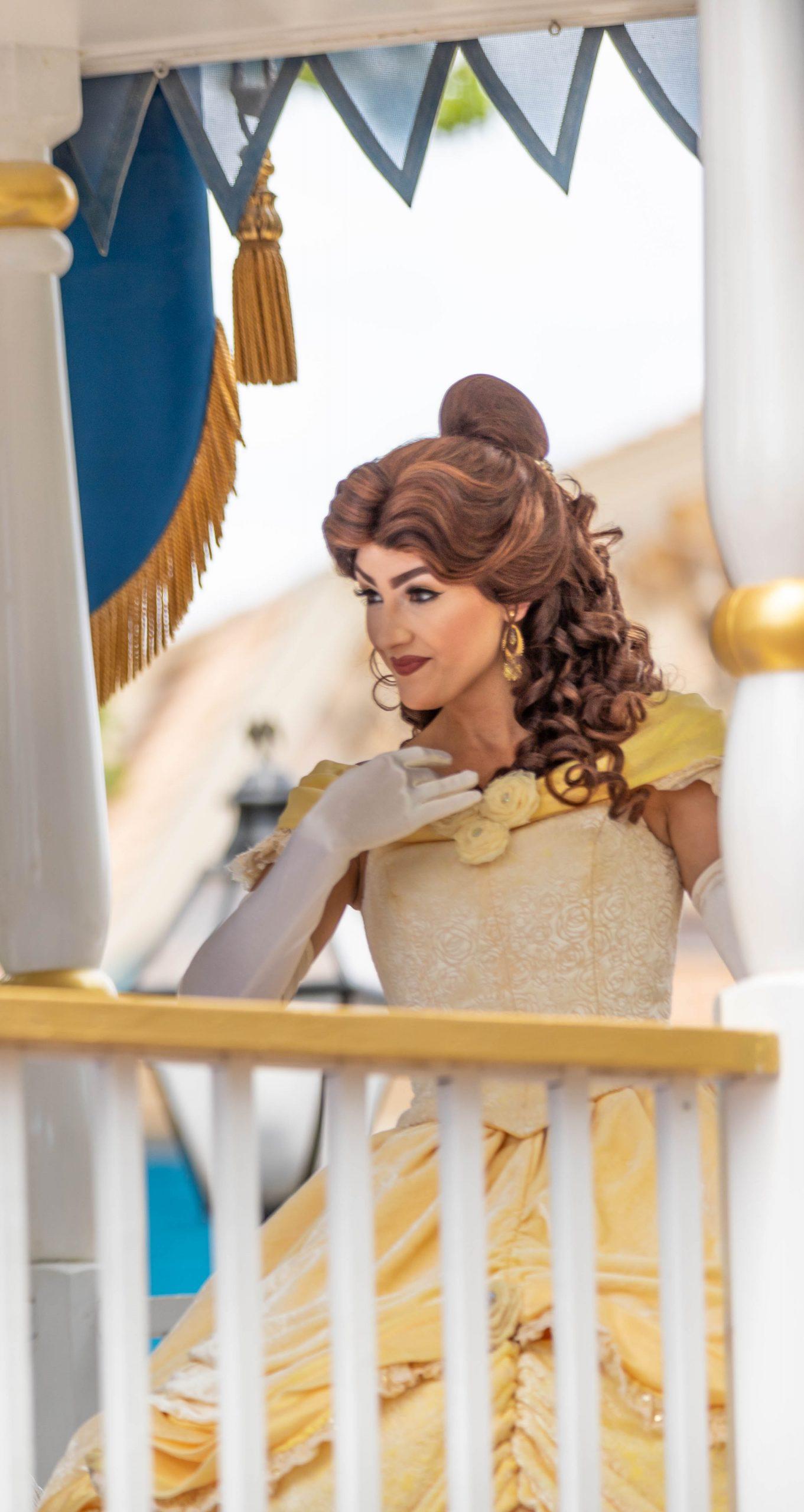 Photograph of Disney Princess Belle at Walt Disney World Photographed by Luxury Travel Writer Annie Fairfax