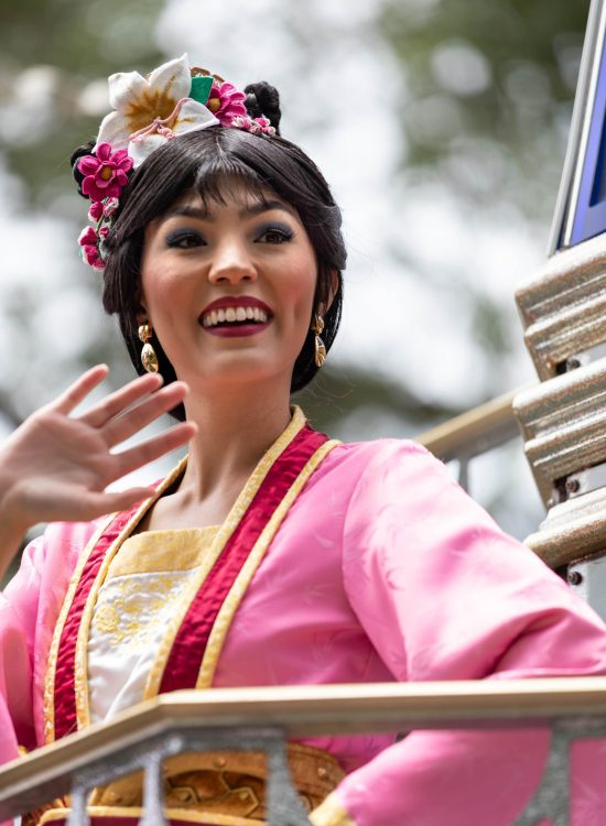 Photograph of Disney Princess Mulan at Walt Disney World Photographed by Luxury Travel Writer Annie Fairfax