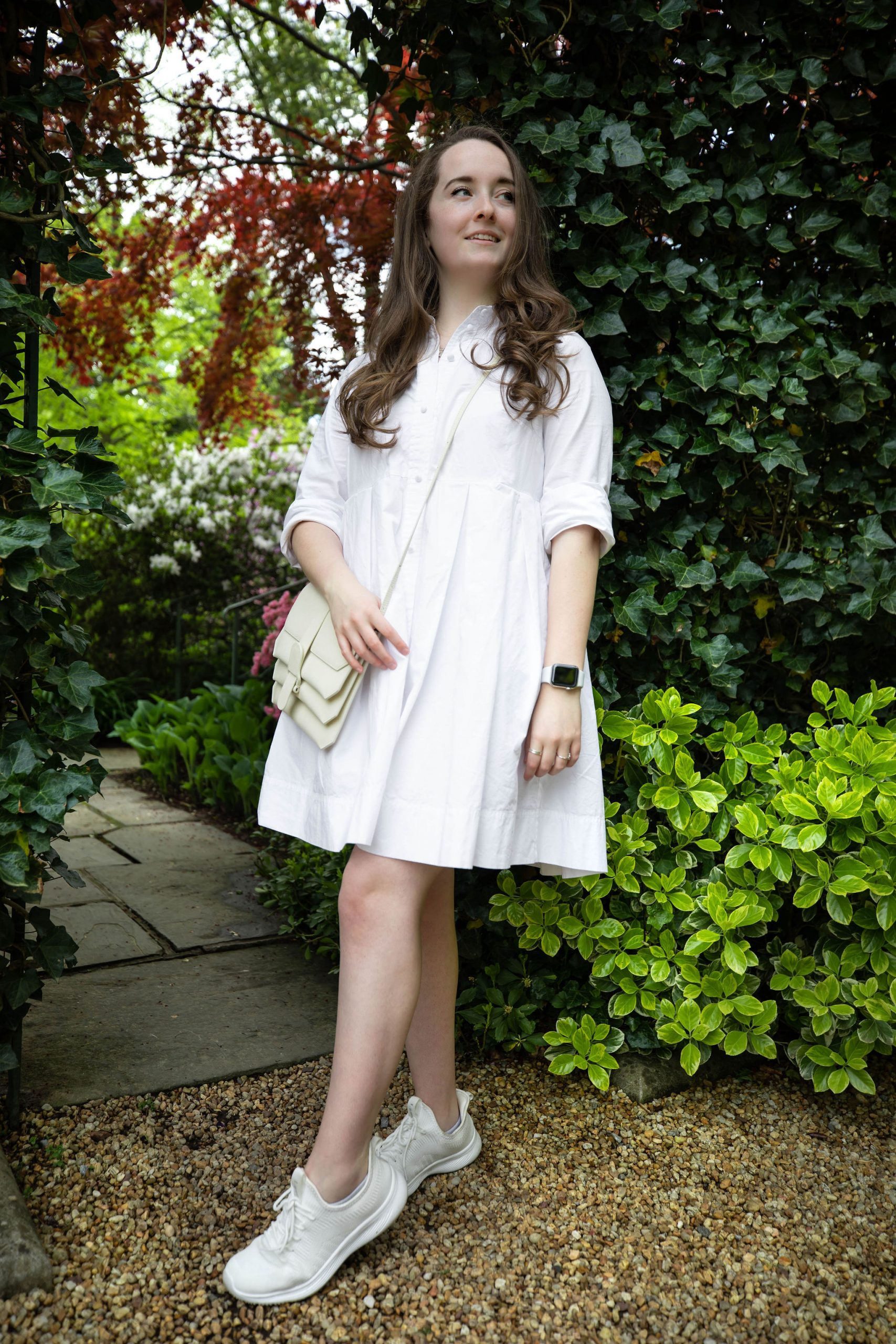 What I Wore in Washington, D.C. Madewell Shirtdress and Senreve Crossbody Convertible Bag Worn by Annie Fairfax