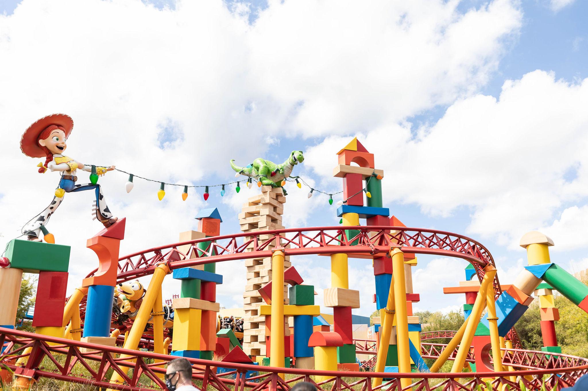 Toy Story Mania Slinky Dog Coaster Hollywood Studios Walt Disney World Photographed by Annie Fairfax