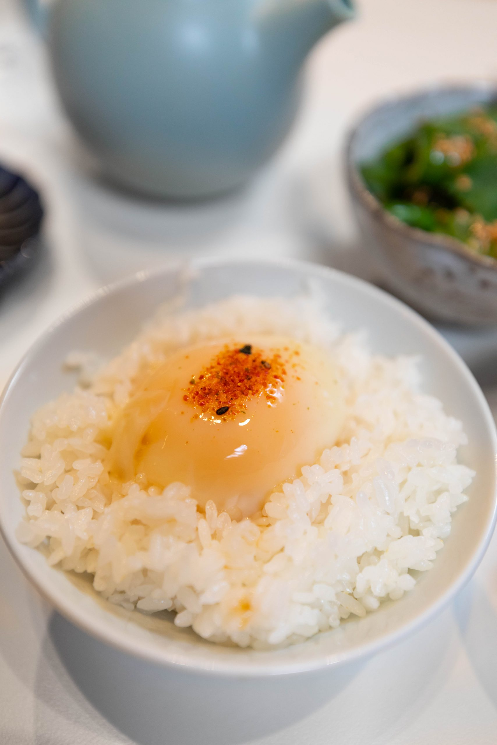 Egg on Rice Japanese Breakfast Set at Rule of Thirds Brooklyn Japanese Food in New York City NYC Fine Dining Asian Cuisine Luxury Restaurants of the World Written and Photographed by Annie Fairfax