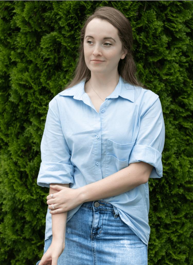 Oversized Linen Button-Up Shirt
