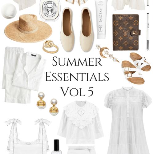 Summer Essentials Volume 5 by Annie Fairfax Cult Gaia Vita Kins Louis Vuitton Everlane J Crew Julie Vos Diptyque and More Warm Weather Womens Fashion