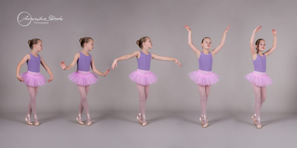 sequence of a young dancer