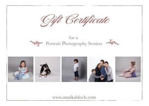 Portrait Photography Voucher for photography session in Maida Vale, Central London