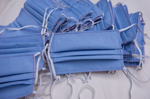 Maida Unveiled - Sewing medical face masks for the local hospital