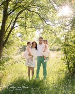 outdoor family session in West London