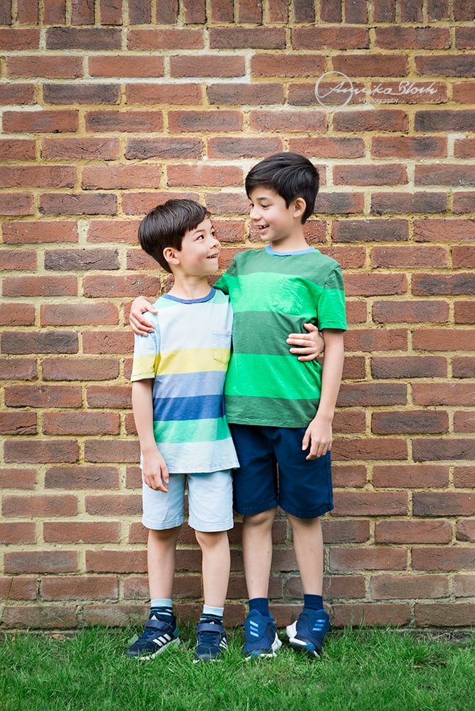 child photography in Holland Park, London, two boys