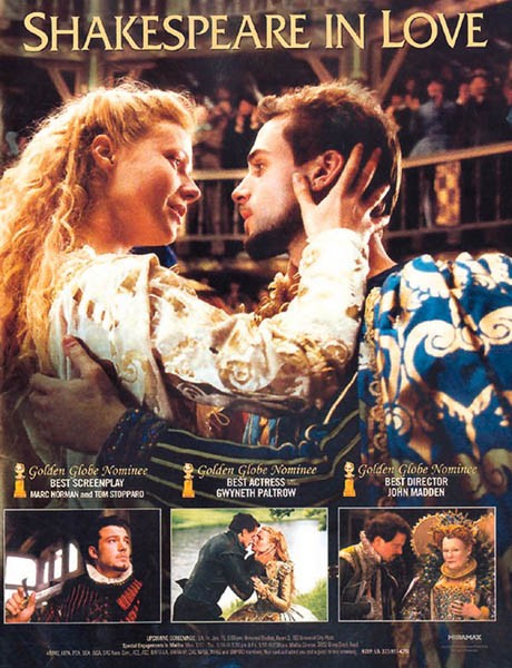 Shakespeare in Love et Pride and Prejudice