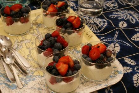 Dessert au mascarpone et aux fruits frais