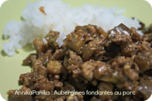 aubergines fondantes au porc