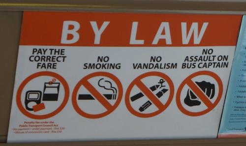 Interdictions du bus