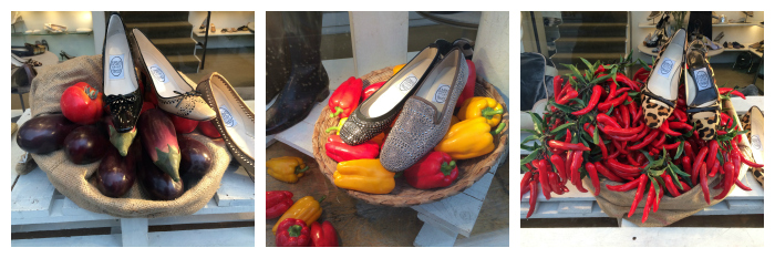 London food and shoes
