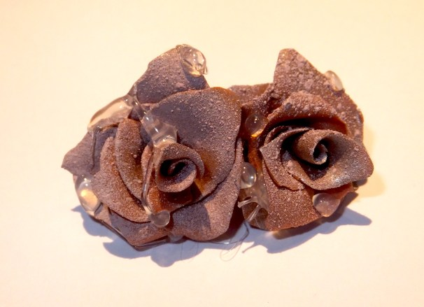 Frosted rose studs
