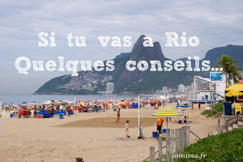 Si tu vas à Rio - conseils1