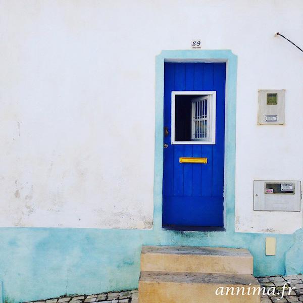 algarve door blue