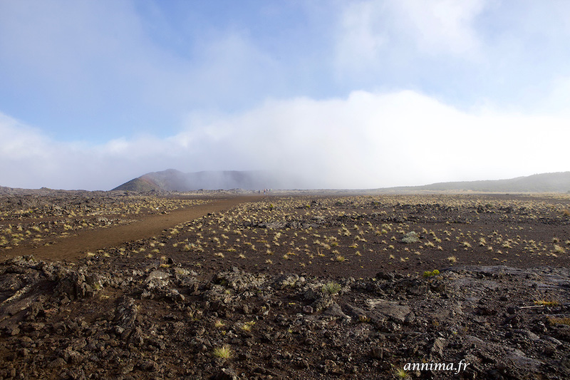 Le Piton de la Fournaise en éruption.